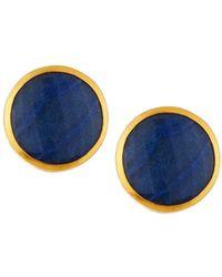 Gurhan - 24k Pandora Blue Quartz Button Earrings - Lyst