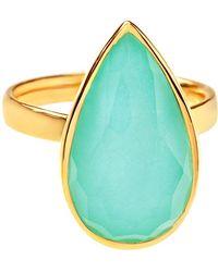 Ippolita - 18k Rock Candy Single Medium Teardrop Ring In Turquoise Doublet - Lyst