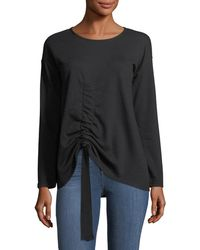 Ruched-Front Pullover Sweatshirt Neiman Marcus In China For Sale Clearance Cheap Browse Online eiaekQJ88