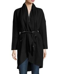 Goldie London - Falling Out Wool-blend Oversized Cardigan - Lyst