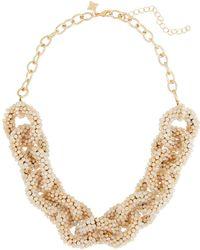 Panacea - Crystal Link Collar Necklace - Lyst