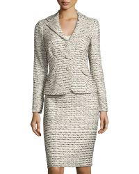 Kay Unger - Tweed Jacket & Skirt Suit Set - Lyst