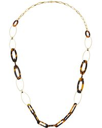 A.V. Max - Long Tortoise Link Necklace - Lyst