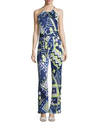 Alice & Trixie - Audrey Printed Sleeveless Jumpsuit - Lyst