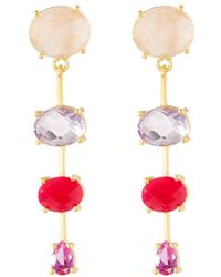 Indulgems - Mixed Linear Drop Earrings - Lyst