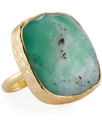 Nakamol - Adjustable Chrysoprase Cocktail Ring - Lyst