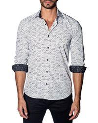 Jared Lang - Line & Dot Print Sport Shirt - Lyst
