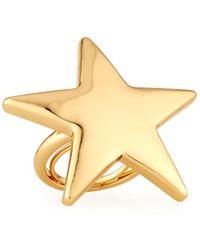 Kenneth Jay Lane - Polished Golden Star Ring - Lyst