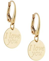 Roberto Coin - Love Plus 18k Yellow Gold Charm Drop Earrings - Lyst