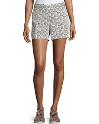 Cece by Cynthia Steffe - Stream Check Printed Shorts - Lyst