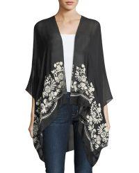 Raj - Floral-embroidered Kimono - Lyst