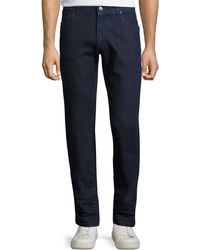 Luciano Barbera - Solid Slim-fit Denim Pants - Lyst
