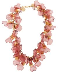 Lydell NYC - Single-strand Necklace W/ Petals - Lyst