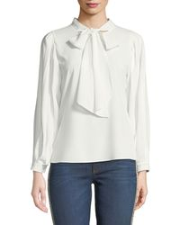 Haute Rogue - Nelly Chiffon Tie-neck Blouse - Lyst