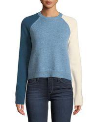10 Crosby Derek Lam - Colorblocked-sleeve Stretch Wool Sweater - Lyst