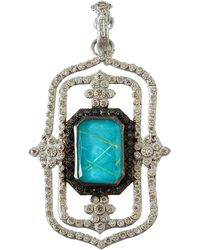 Armenta - New World Large Doublet Scroll Enhancer Pendant With Diamonds - Lyst