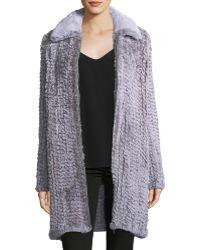 Avec Les Filles - Knitted Faux-fur Walker Coat - Lyst