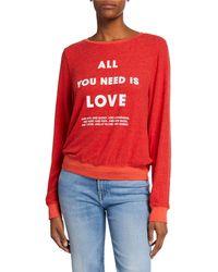 Wildfox - List Of Demands Baggy Beach Sweater Sweathirt - Lyst