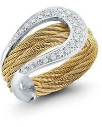 Alor - 18k Diamond Pavé Horseshoe Ring - Lyst