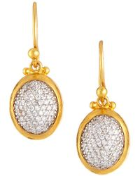 Gurhan - 24k Amulet Diamond Pavé Drop Earrings - Lyst