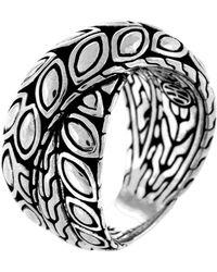 John Hardy - Padi Silver Twist Ring - Lyst