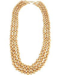 Lydell NYC - Triple-row Statement Necklace - Lyst