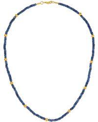 Gurhan - 24k Gold & Blue Sapphire Gleam Rain Necklace - Lyst