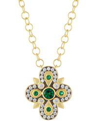Freida Rothman - Cubic Zirconia Floral Pendant Necklace - Lyst