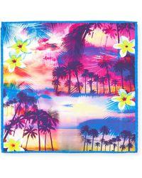 Bugatchi - Beach Sunset Silk Pocket Square - Lyst
