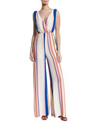 Line & Dot - Rory Candy-striped Wide-leg Jumpsuit - Lyst