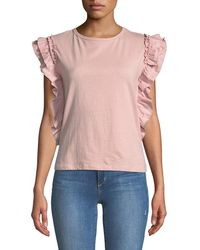 Romeo and Juliet Couture - Ruffle-sleeve Tee - Lyst