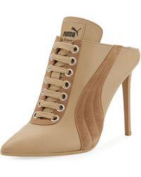 f3c6d30d0a05f0 PUMA - Lace-up Leather Mule Sneaker Pump - Lyst