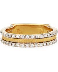 Marco Bicego - Goa 18k Three-row Double Pave Diamond Ring - Lyst
