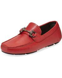 0f7e3cb3d2c Lyst - Ferragamo Rouge Parigi Bit Driving Loafers in Red for Men