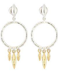 Gurhan - Wheat Hoop Drop Earrings - Lyst
