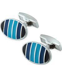 Bugatchi - Striped Oval Cuff Links - Lyst