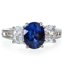Fantasia by Deserio - Synthetic Sapphire & Cubic Zirconia Oval Ring Sizes 6-7 - Lyst