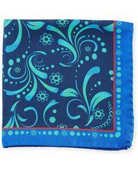 Bugatchi - Ombre Leaf Silk Pocket Square - Lyst