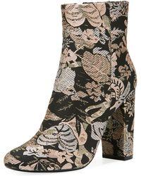 Neiman Marcus - Bucasia Floral Brocade Booties - Lyst