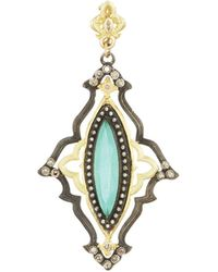 Armenta - Scalloped Marquise Pendant Enhancer - Lyst