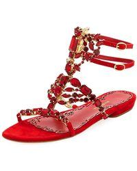Marchesa - Emily Caged Dressy Flat Sandal - Lyst