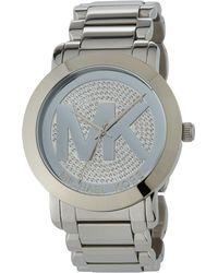MICHAEL Michael Kors - 45mm Pave Steel Bracelet Watch - Lyst