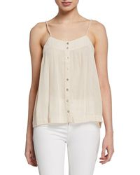 Knot Sisters - Metallic Button-front Tank - Lyst