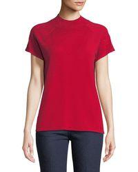 Neiman Marcus - Short-sleeved Rhinestone Sweater - Lyst
