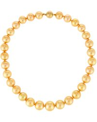 Belpearl - 14k Golden South Sea Pearl Necklace - Lyst