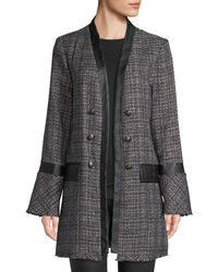 Laundry by Shelli Segal - Double-breasted Long Boucle Coat - Lyst