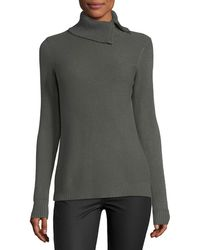 Metric Knits - Textured-knit Envelope-neck Sweater - Lyst