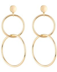 Lydell NYC - Linear Link Drop Earrings - Lyst