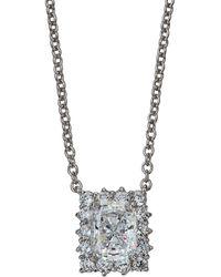 Fantasia by Deserio - Radiant Cubic Zirconia Pendant Necklace - Lyst