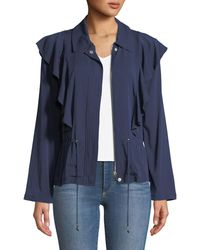 Laundry by Shelli Segal - Ruffle-front Twill Jacket - Lyst